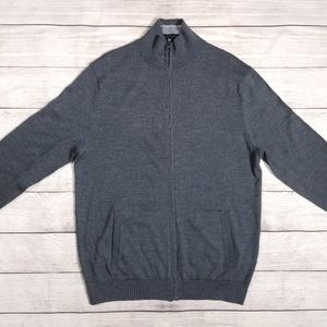 BANANA REPUBLIC MERINO WOOL FULL ZIP SWEATER